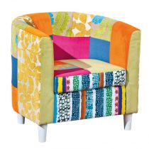 "Fauteuil Patchwork ""Aquarelle"" Multicolore"