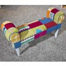 "Banc Patchwork ""Aquarelle"" Multicolore"
