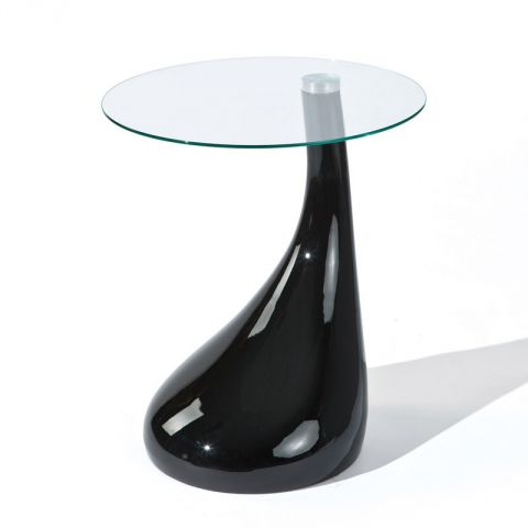 "Table d'Appoint ""Louis"" 54cm Noir"