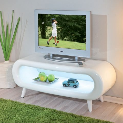 "Meuble TV Design ""Bright"" Blanc"