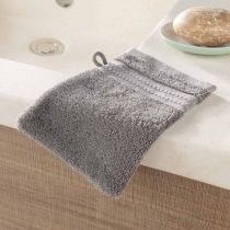 "Lot de 2 Gants de Toilette ""Excellence"" 15x21cm Gris"