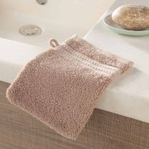 "Lot de 2 Gants de Toilette ""Excellence"" 15x21cm Taupe"