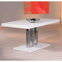 "Table de Repas ""Steam"" 160cm Blanc"