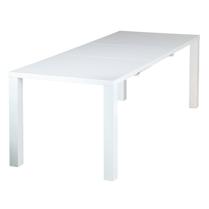 table de repas extensible trufo 160 220cm blanc. Black Bedroom Furniture Sets. Home Design Ideas