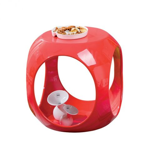 """Table d'Appoint Design """"Word"""" Rouge"""