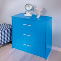 "Commode 3 Tiroirs ""Happy"" Bleu"