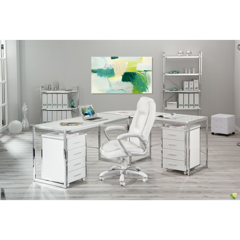 chaise de bureau premium blanc. Black Bedroom Furniture Sets. Home Design Ideas