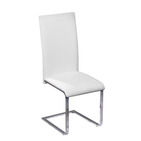 "Chaise Design Métal & Simili ""Steam"" 100cm Blanc"