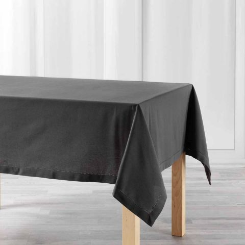 "Nappe Rectangulaire ""Charline"" 140x240cm Anthracite"