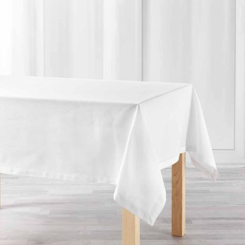 "Nappe Rectangulaire ""Charline"" 140x240cm Blanc"