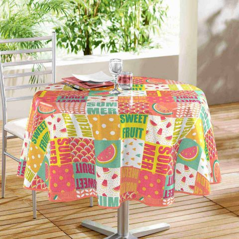 "Nappe Ronde ""Sweet Fruit"" 160cm Multicolore"
