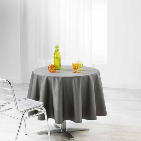 """Nappe Ronde """"Liany"""" 180cm Anthracite"""