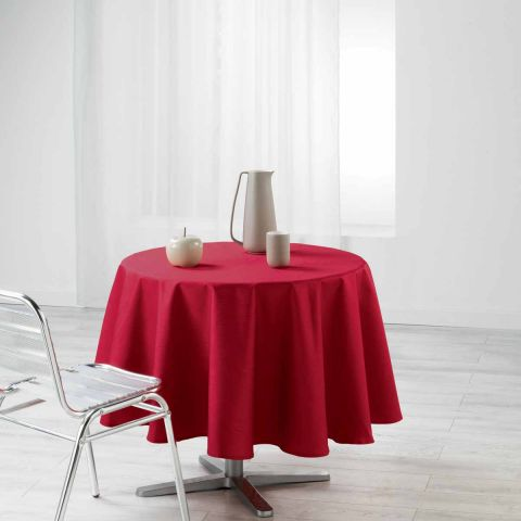 "Nappe Ronde ""Liany"" 160cm Rouge"