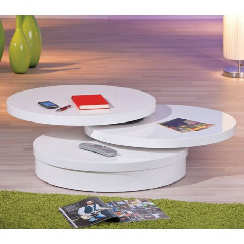 "Table Basse Pivotante ""Sacha"" Blanc"