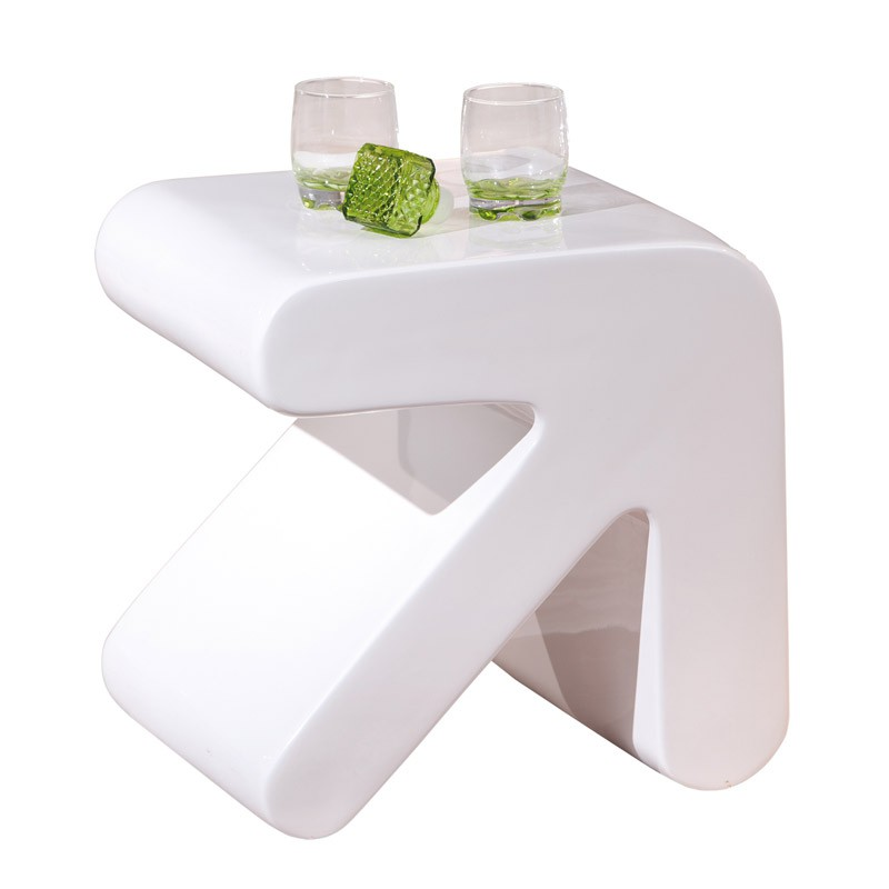 Table d appoint excel blanc for Meuble d appoint design
