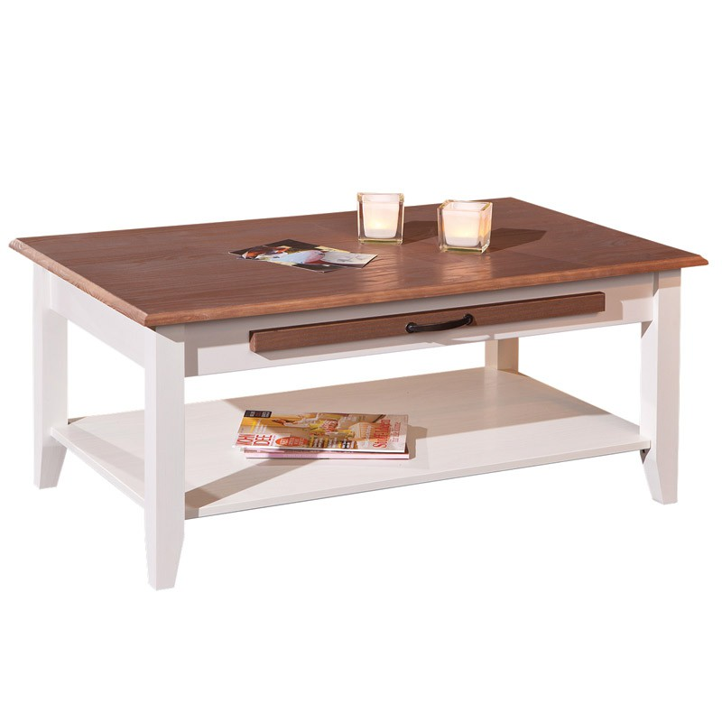 Table basse chlo brun - Table basse brun noir ...