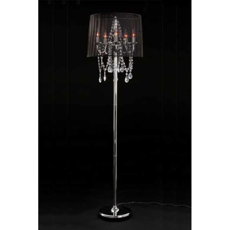 Lampadaire design barocco noir for Lampadaire interieur design