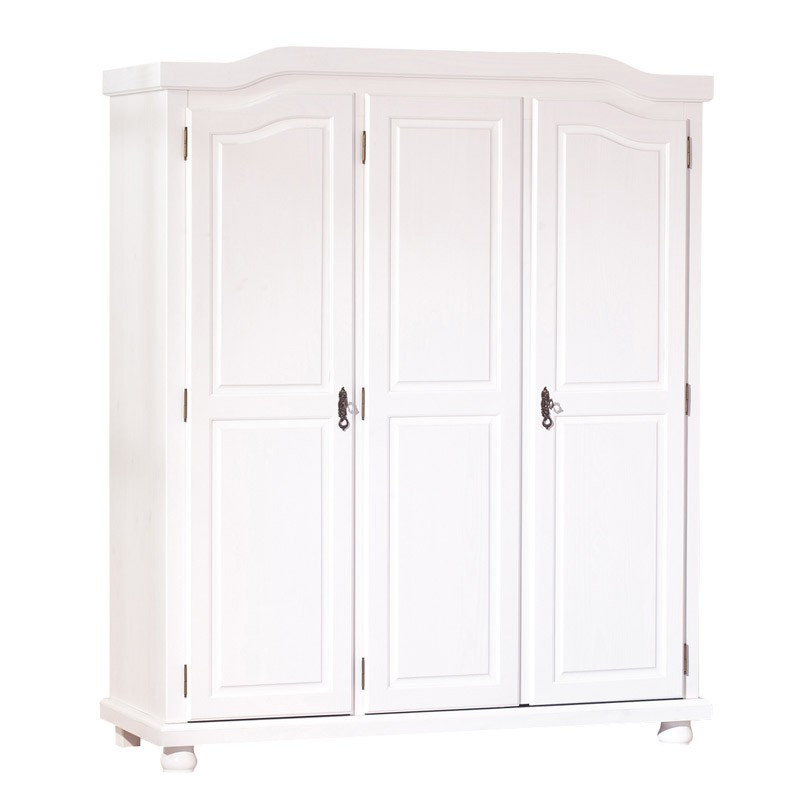 armoire 3 portes cardaillac blanc. Black Bedroom Furniture Sets. Home Design Ideas