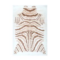"Tapis Imprimé Animal ""Rabbit"" Beige & Marron"