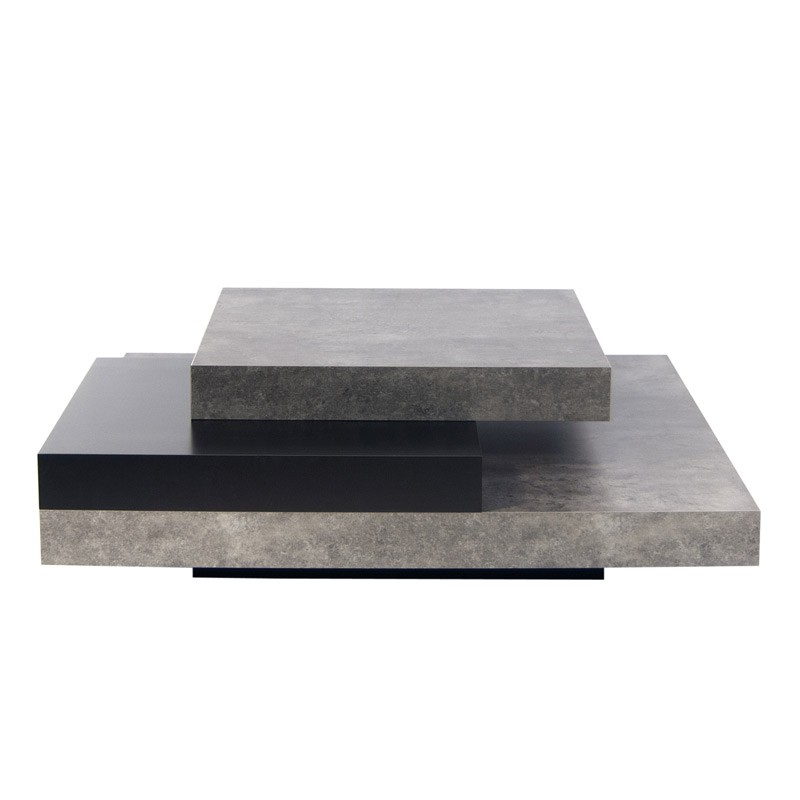 temahome table basse 90cm slate b ton noir. Black Bedroom Furniture Sets. Home Design Ideas