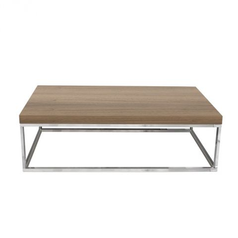 "TemaHome - Table Basse 120cm ""Prairie"" Noyer & Chrome"