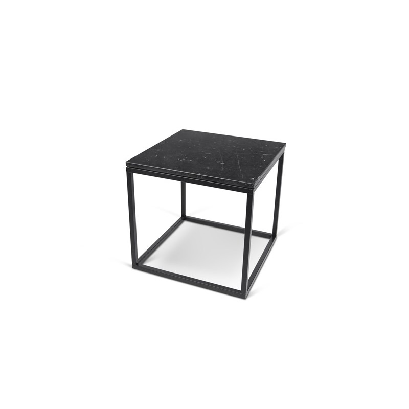 temahome table d 39 appoint 50cm prairie marbre noir. Black Bedroom Furniture Sets. Home Design Ideas