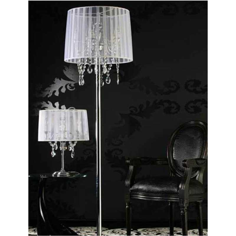 lampadaire design barocco blanc. Black Bedroom Furniture Sets. Home Design Ideas