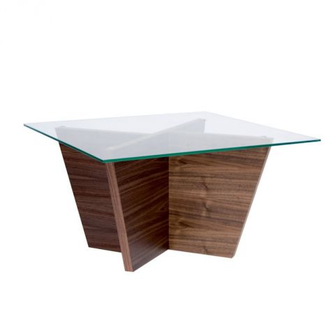 "TemaHome - Table d'Appoint 70cm ""Oliva"" Noyer"