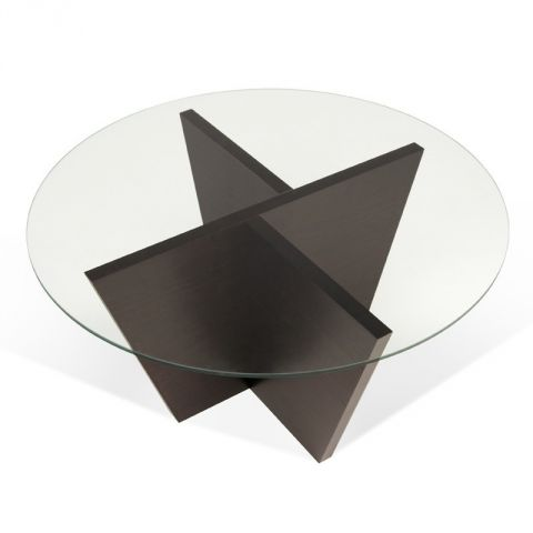 """TemaHome - Table d'Appoint 80cm """"Oliva"""" Wengé"""