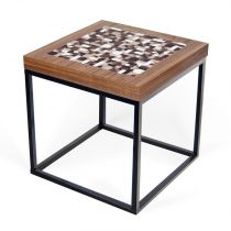 "TemaHome - Table d'Appoint 50cm ""Metrics"" Noyer"