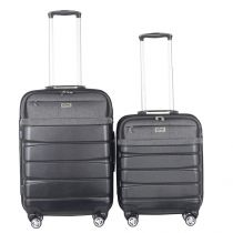 "Lot de 2 Valises Design ""Hybride"" 66cm Noir"