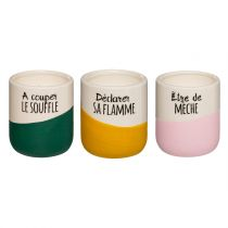 "Lot de 3 Bougies Parfumées ""Arty"" 110g Multicolore"