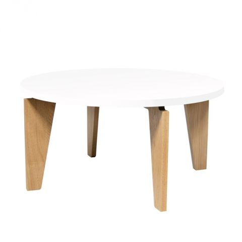 "TemaHome - Table Basse 80cm ""Magnolia"" Blanc Mat"