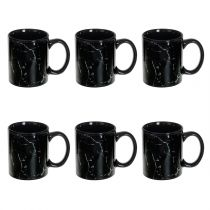 "Lot de 6 Mugs Design ""Geom"" 35cl Noir"