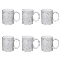 "Lot de 6 Mugs Design ""Geom"" 35cl Blanc"