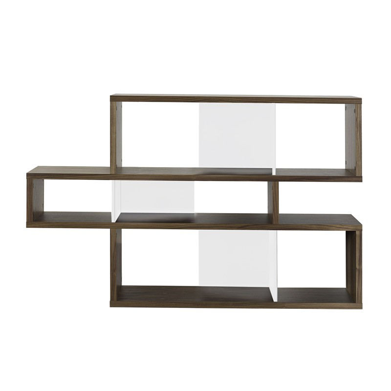 temahome tag re biblioth que london 1 noyer blanc. Black Bedroom Furniture Sets. Home Design Ideas