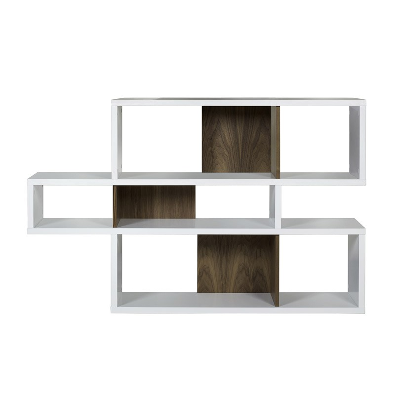 temahome tag re biblioth que london 1 blanc noyer. Black Bedroom Furniture Sets. Home Design Ideas