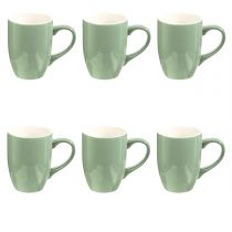 "Lot de 6 Mugs ""Colors"" 31cl Menthe"
