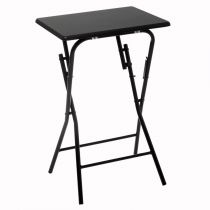 "Table d'Appoint Pliante Design ""Paola"" 64cm Noir"