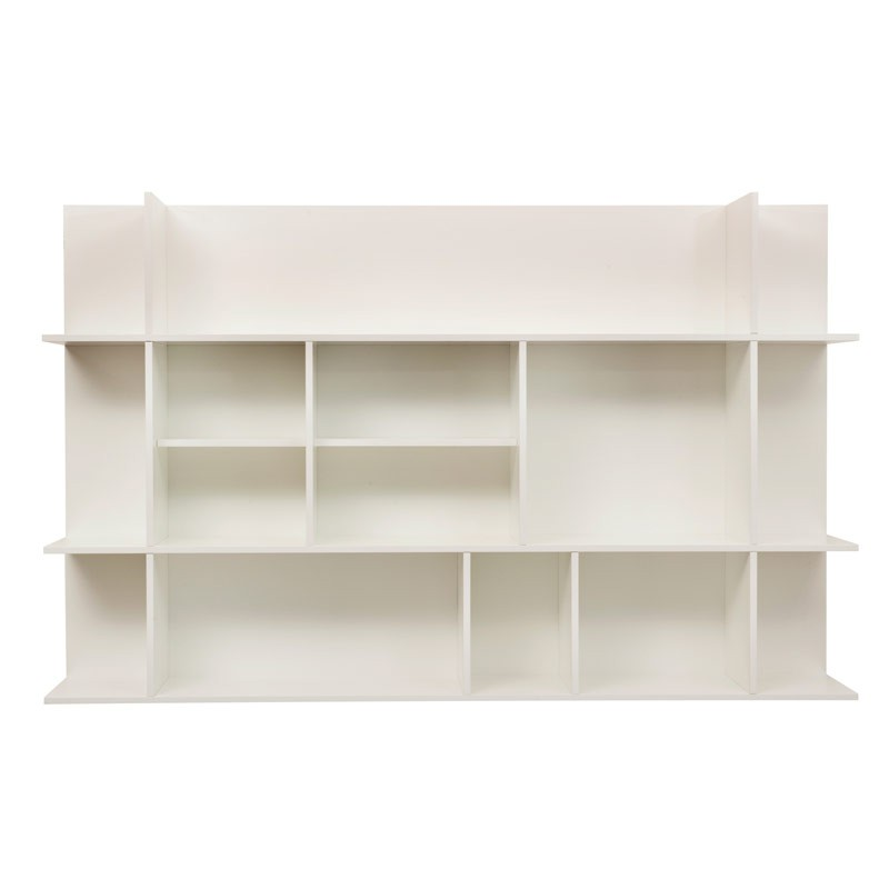 Temahome tag re biblioth que murale panorama pm blanc mat - Etagere murale bibliotheque ...