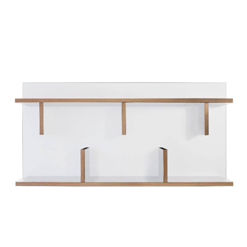 Temahome tag re biblioth que murale 90cm bern blanc cont - Bibliotheque etagere murale ...