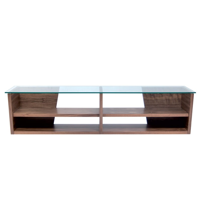 Temahome meuble tv oliva 170cm noyer for Meuble tv 170 cm