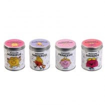 "Lot de 4 Bougies Parfumées ""Monsieur & Madame®"" 7cm Bubble Gum"