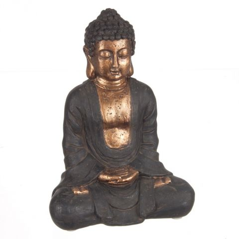 Statue Bouddha Assis 23cm Or