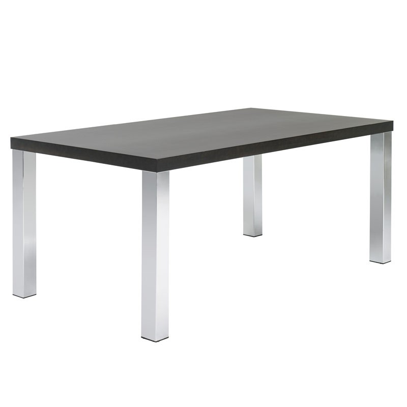 Temahome table de repas multi 160cm weng pieds chrom s for Table de multi