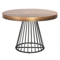 "Table de Repas Ronde ""Virginia"" 110-260cm Naturel"