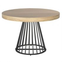 "Table de Repas Ronde ""Virginia"" 110-260cm Beige"
