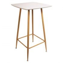 "Table de Bar Design ""Mange Debout"" 102cm Blanc"
