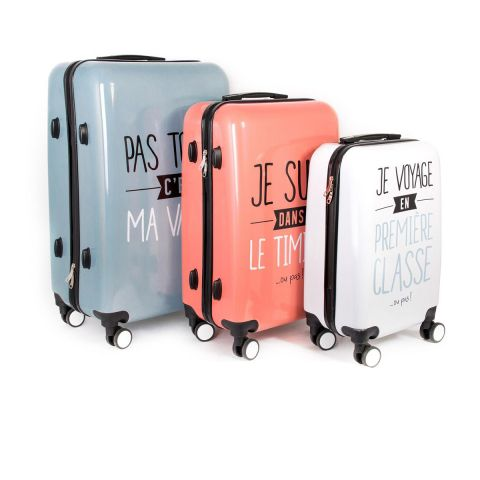 "Lot de 3 Valises Design ""Jet Lag"" 78cm Multicolore"