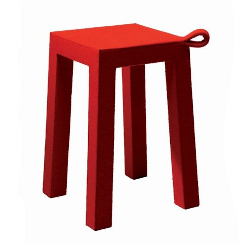 """TemaHome - Tabouret Design """"Handle"""" Rouge"""